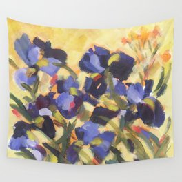 Beautiful Blue Iris Wall Tapestry