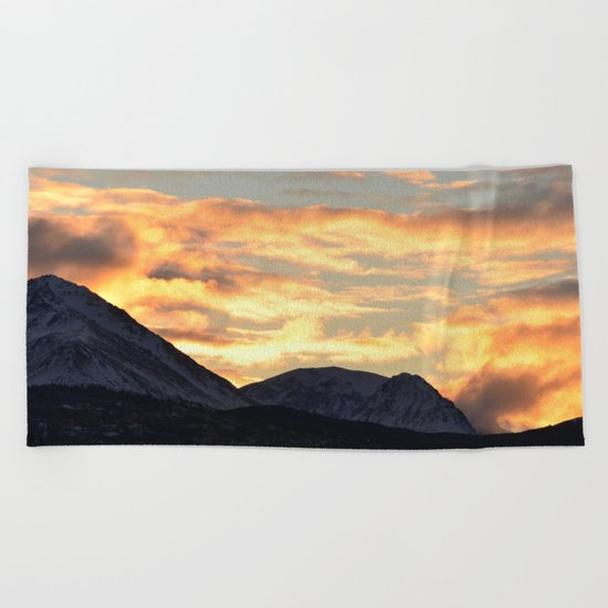 Good Morning Last Frontier! Beach Towel