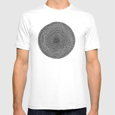 Circle / Semi Circles MEDIUM Mens Fitted Tee White