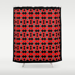 The Hottie 2 with Red Shower Curtain