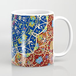 Woven Star in Blue and Red Coffee Mug
