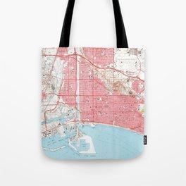 Vintage Map of Long Beach California (1964) 4 Tote Bag