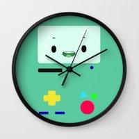 bmo Wall Clocks featuring BMO by Fynnit Art