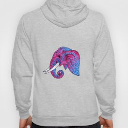 'Remember the Spots' Pink and Blue Spotted Elephant Hoody