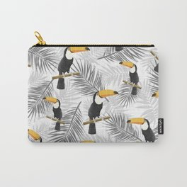 Toucan with palm leaves Carry-All Pouch