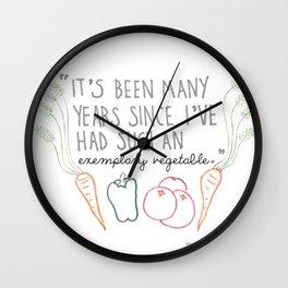 An Exemplary Vegetable Wall Clock