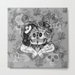 Always Kiss Me Gray Metal Print