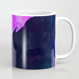DOLPHIN IN SPACE // Animal Graphic Art // Watercolor Canvas Painting // Modern Minimal Cute Coffee Mug