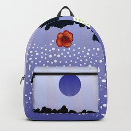 Poppies and lake Backpack