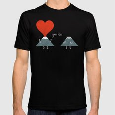 I Lava You Black MEDIUM Mens Fitted Tee