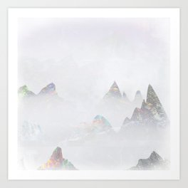Emerald Mountains Art Print