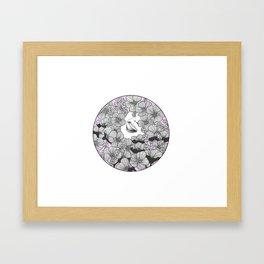 In a Field of Flowers Framed Art Print
