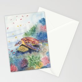 Sea Turtle and Friends Stationery Cards