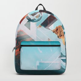 Abstract Geometric Collage I Backpack