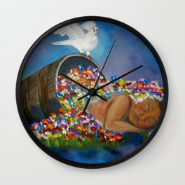 GOD Planted a Garden Eastward In Eden Wall Clock
