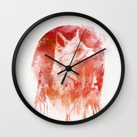mars Wall Clocks featuring Mars by Robert Farkas