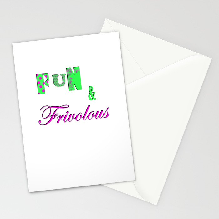 Fun and Frivoulous Stationery Cards