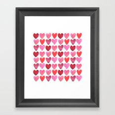 Heart Watercolor Framed Art Print