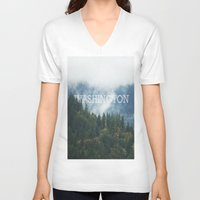 washington V-neck T-shirts featuring WASHINGTON by shannonfinnphotography