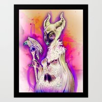 evil Art Prints featuring EVIL by Tim Shumate
