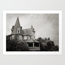 Haunted Victorian House Art Print