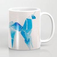 blade runner Mugs featuring Blade Runner| Unicorn by Eazy Verdeacqua