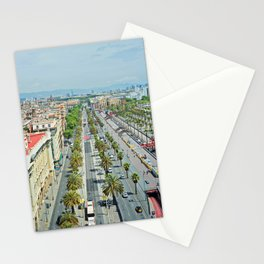Barcelona from above Stationery Cards