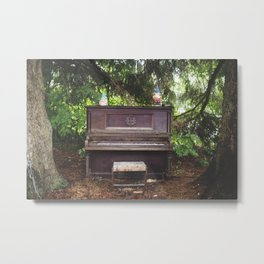 Woodland Piano  Metal Print