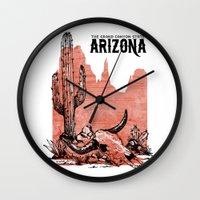 arizona Wall Clocks featuring Arizona by Krikoui