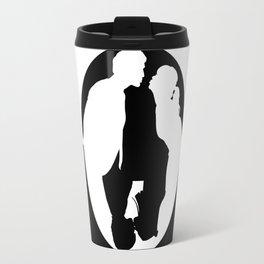 Pushing Daisies silhouette kiss Travel Mug
