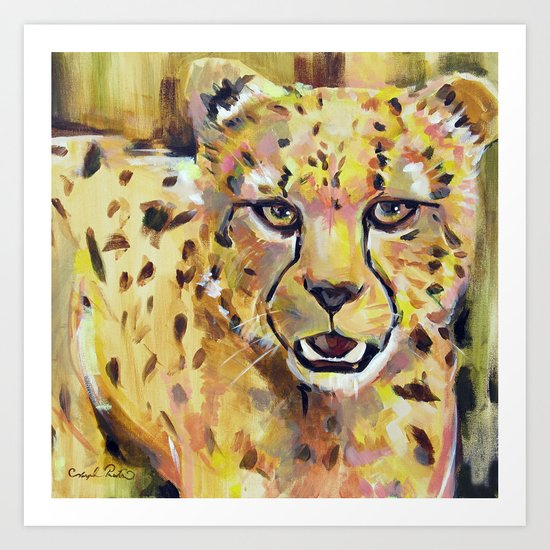 With a Quickness | Cheetah  Art Print