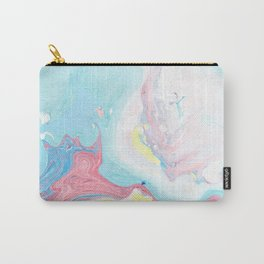 Modern elegant pink  teal yellow watercolor marble pattern Carry-All Pouch