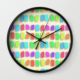Pastel Colors Paint Dabs Wall Clock