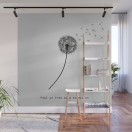 Feel as free as a dandelion Wall Mural