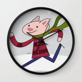 Blustery Day Wall Clock