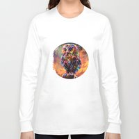 trex Long Sleeve T-shirts featuring brave little owl by ururuty
