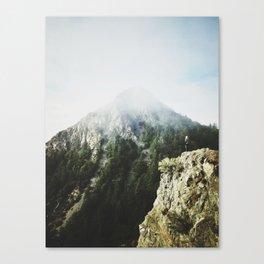 She saw the mountain mist Canvas Print