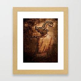 GOAT THRONE Framed Art Print