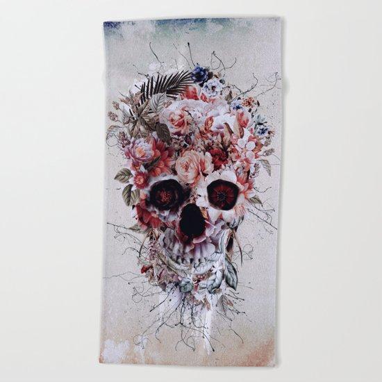 Floral Skull RPE Beach Towel