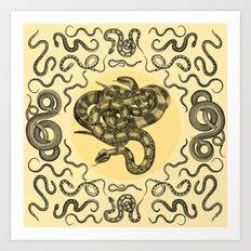 Snakes Pattern Art Print