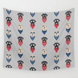 Labrador retrievers summer sunglasses bandana pure breed dog gifts Wall Tapestry