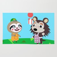 animal crossing Area & Throw Rugs featuring Animal Crossing by Alex Owen