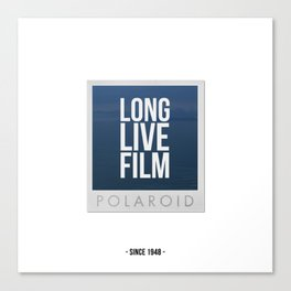 Long Live Film  Canvas Print