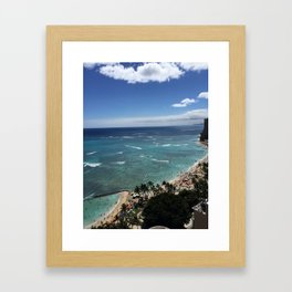 4th of July in Floaties Framed Art Print