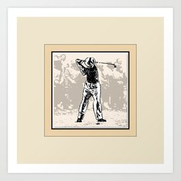 The Masters' Swing 4 of 6 Art Print