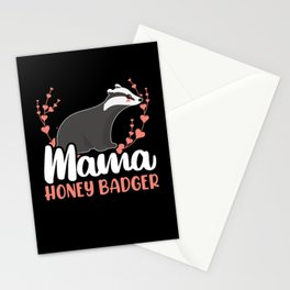 Mama Honey Badger Fearless Animal Ratel Mother Stationery Cards