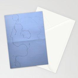 Scream, Blue Stationery Cards