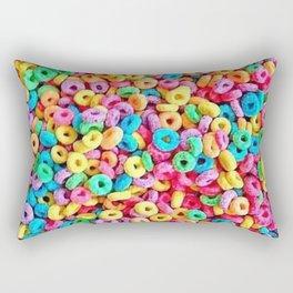 Fruit Loops Cereal Pattern Rectangular Pillow