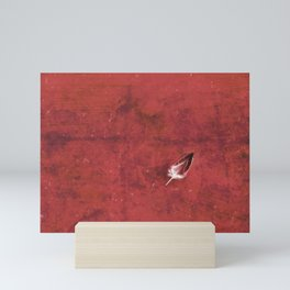 Afloat in a Sea of Red Mini Art Print