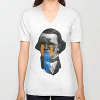 stephen king V-neck T-shirts featuring Stephen by DIVIDUS